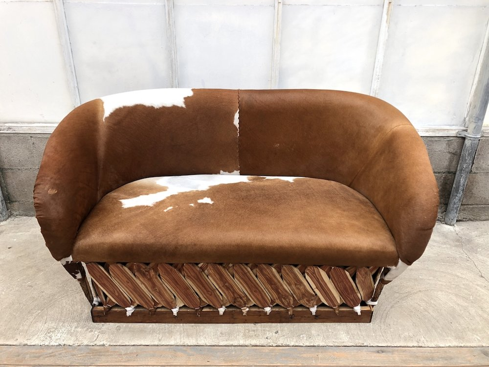 Md Cow Hyde Sofa