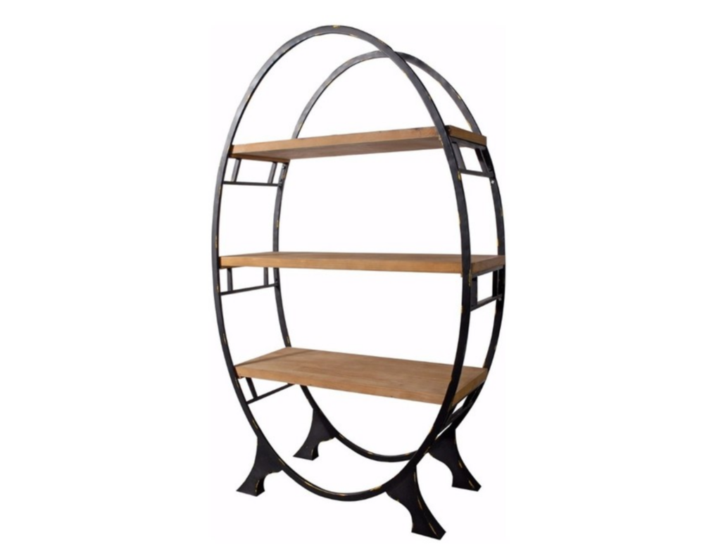 Oval Bookcase