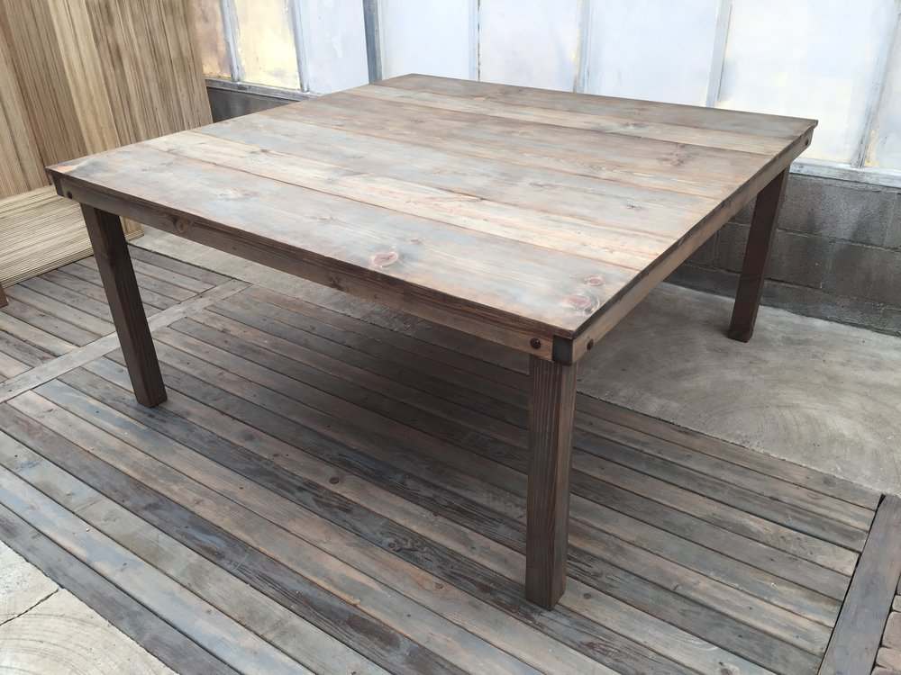 Square Weathered Dining Table
