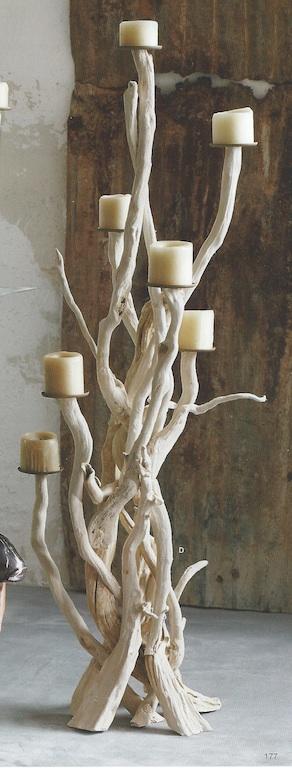 Tall Driftwood Candelabra