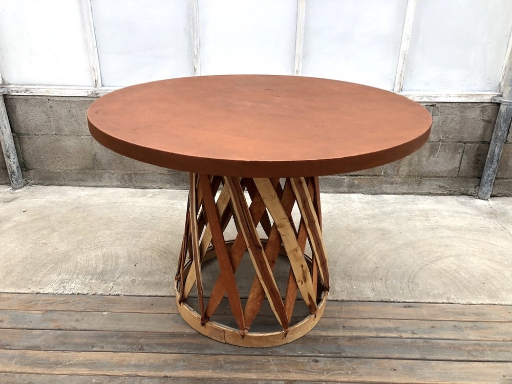 Equipales Tobacco Round Table