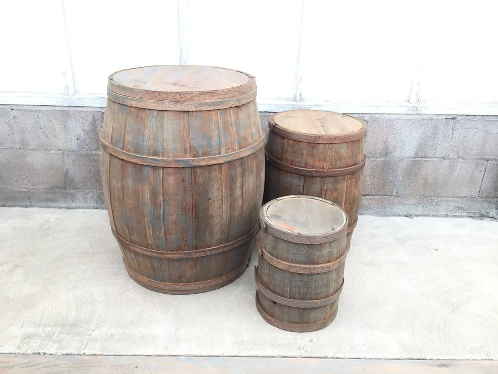 Weathered Barrel Tables
