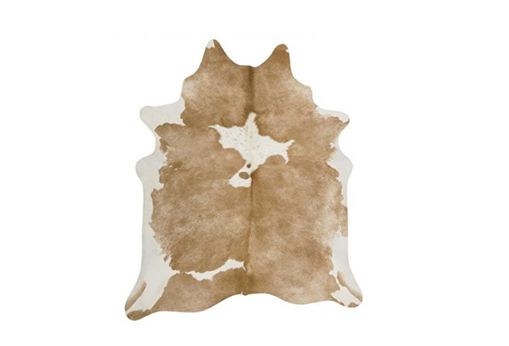 Cow Hide (White & Beige)