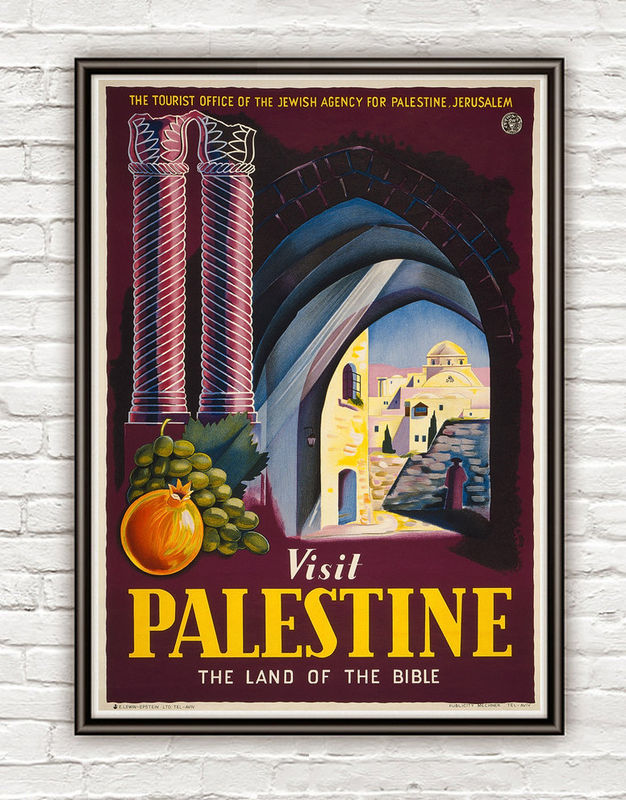 Even Jewish people acknowledged that it was Palestine as you can see in this poster