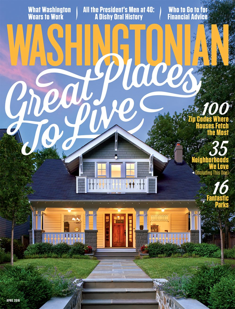 Washingtonian Magazine; April 2016 Cover; Osborn-Layborn Residence; Washington, DC