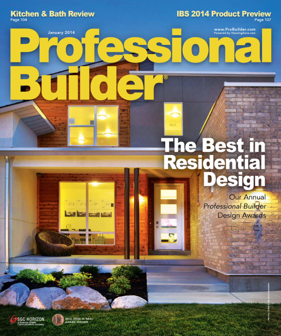 Professional Builder Magazine; January 2014; Page 48; Preiss Residence; Arlington, VA