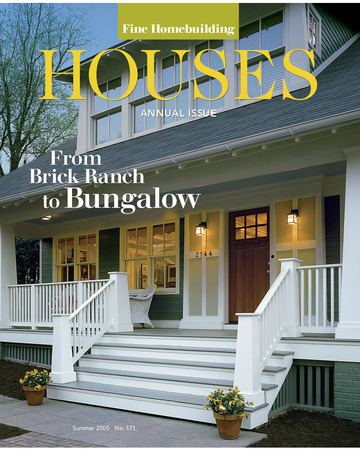Fine Homebuilding Magazine - Cover; Summer 2005; Page 56; Arlington Bungalow; Arlington, VA