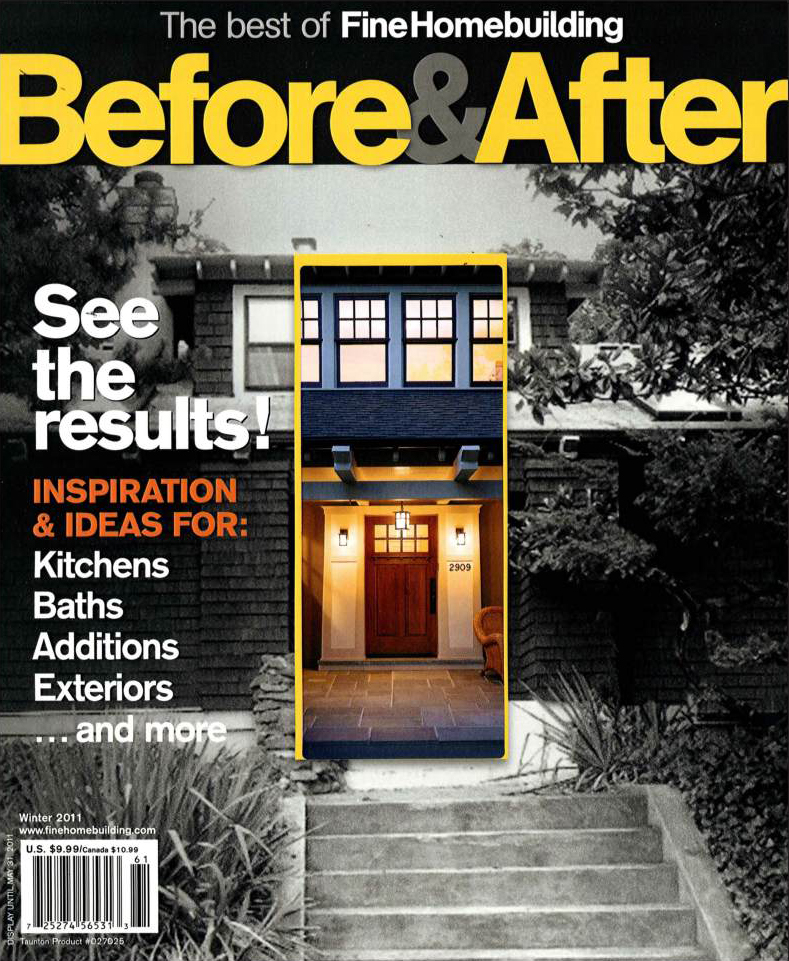 Fine Homebuilding Magazine; Winter 2011; The Best of Fine Homebuilding 'Before & After' - Cover; Winter 2011