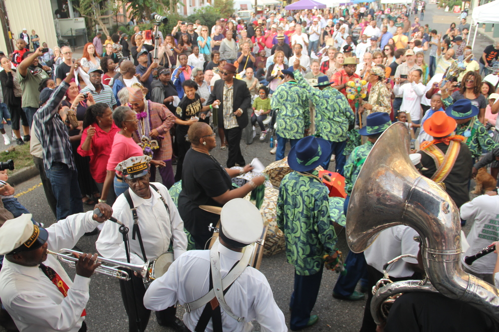 Second Line with Black Men of Labor and Treme Brass Band, 2013 Central City Festival