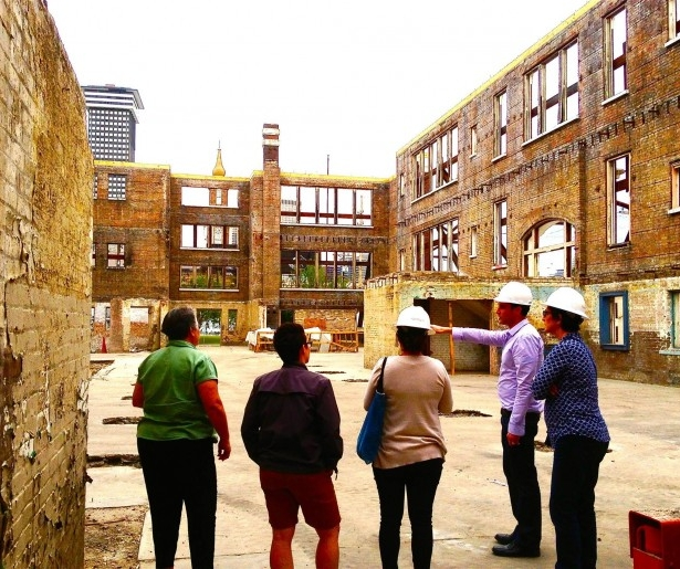 Locals toured the Myrtle Banks Elementary School development site, which became the new home of Dryades Public Market.