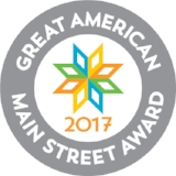 On May 1, 2017 we received national recognition by winning a Great American Main Street Award!