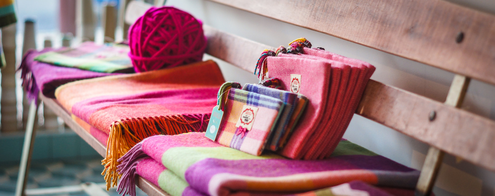 Cozy throws at Avoca