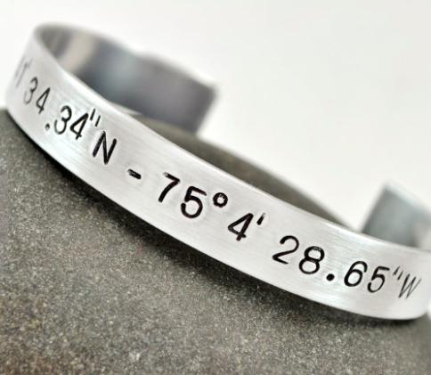 Coordinate cuff longitude latitude