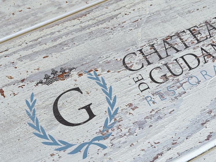 Château de Gudanes Restoration Logo courtesy of www.chateaudegudanes.org