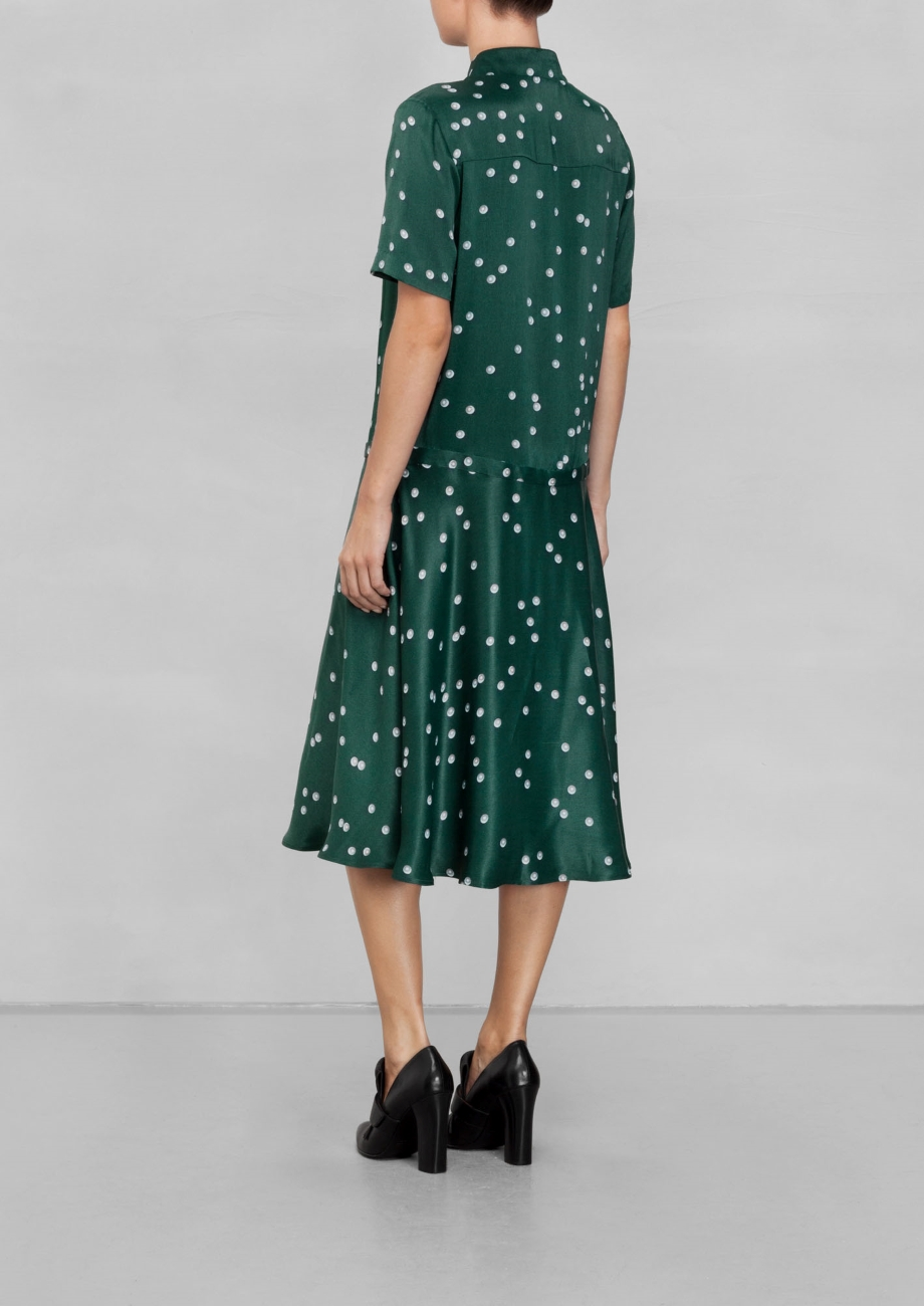 Pearl Dress in Green from  And Other Stories . Same print from above but on a more daring color.