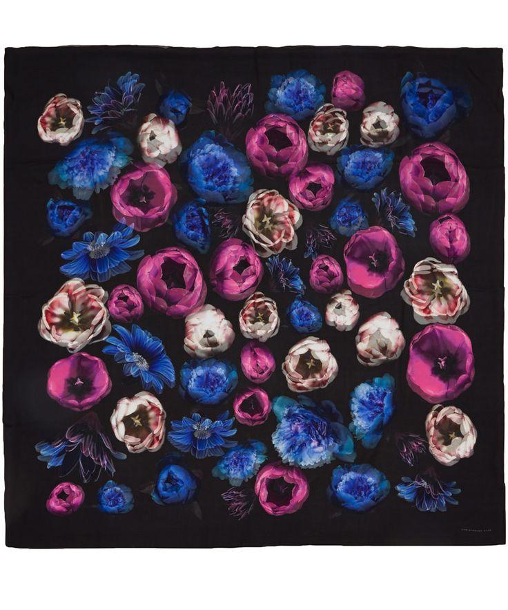 Christopher Kane  Multiflower Scarf. My favorite print of this season.