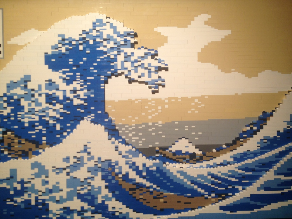 The Art of the Brick _ Japanese Wave