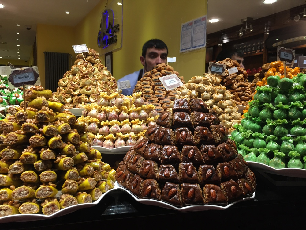 Pyramids of Mediterranean sweets...