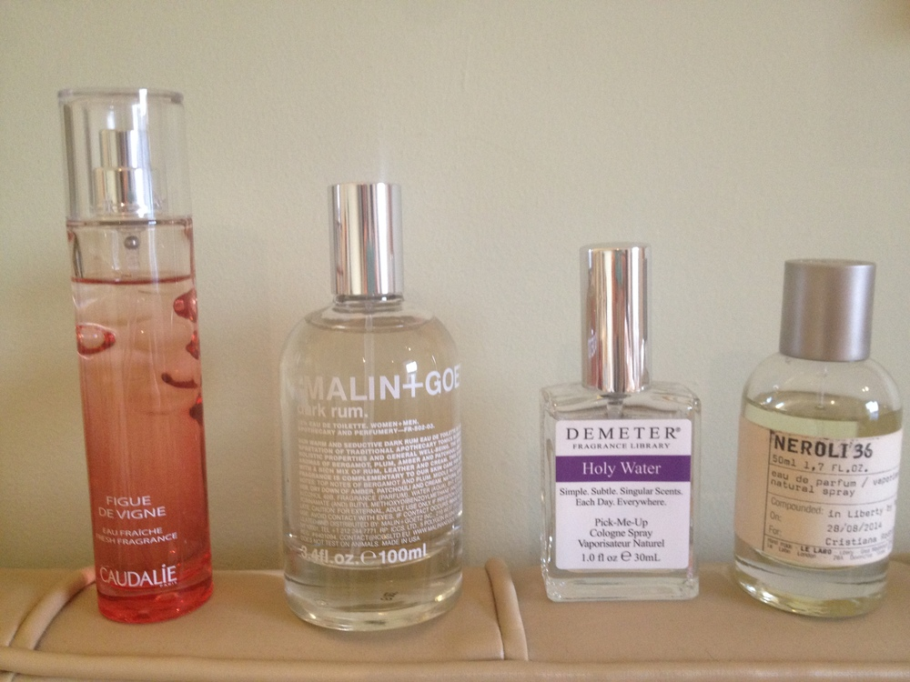 Scents to love by Caudalie, Malin+Goetz, Demeter and Le Labo