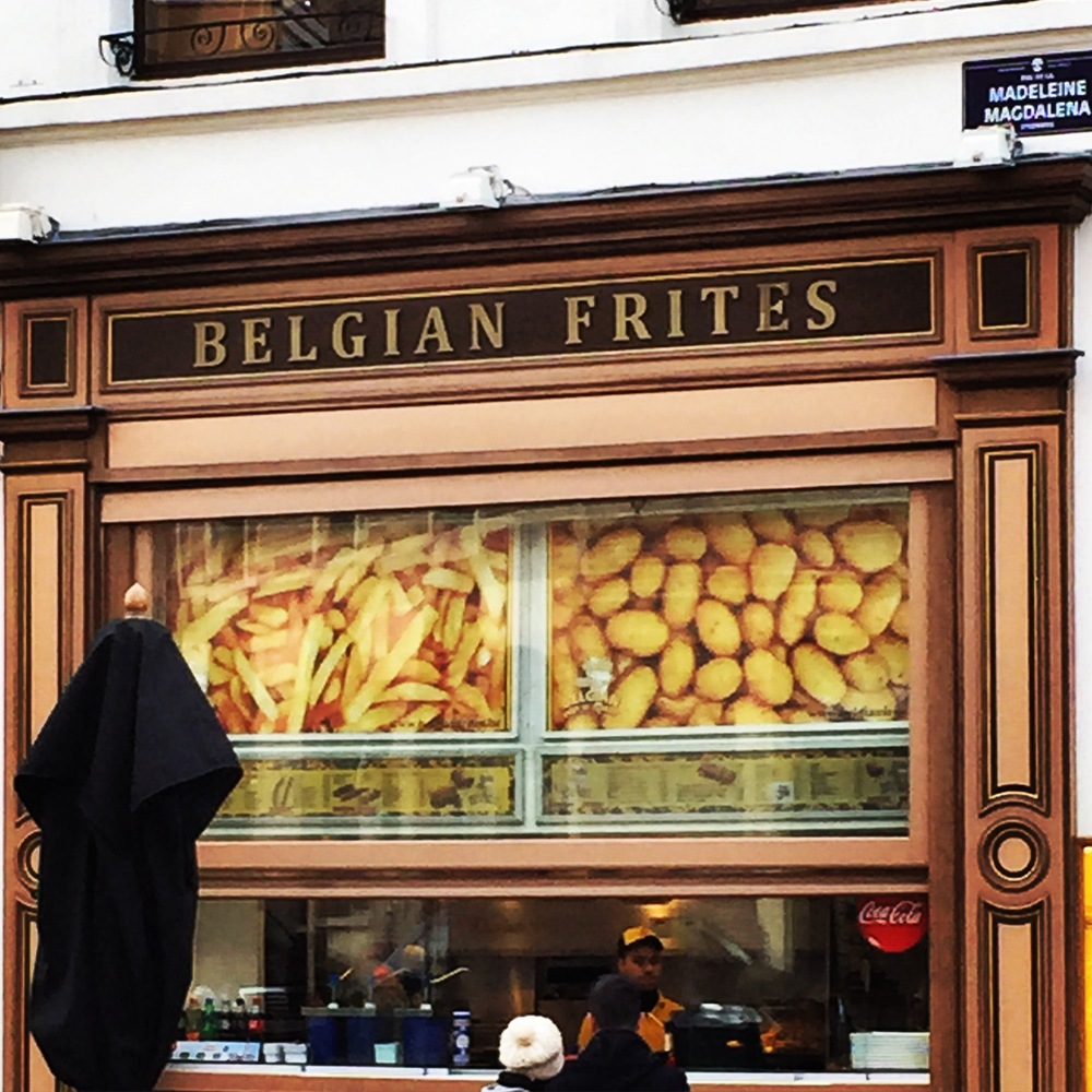 Fires abound at Belgian Frites (Place Agora).