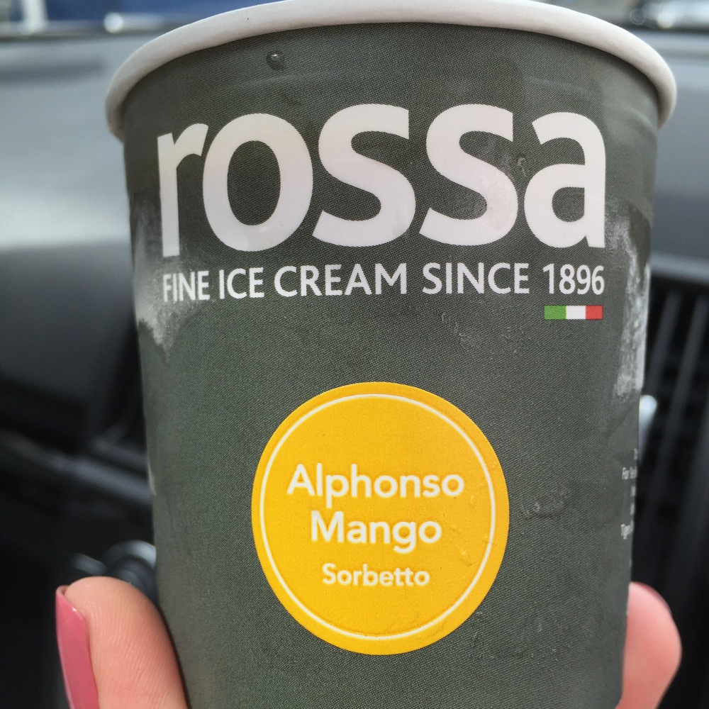 Mango sorbet, my summer treat.