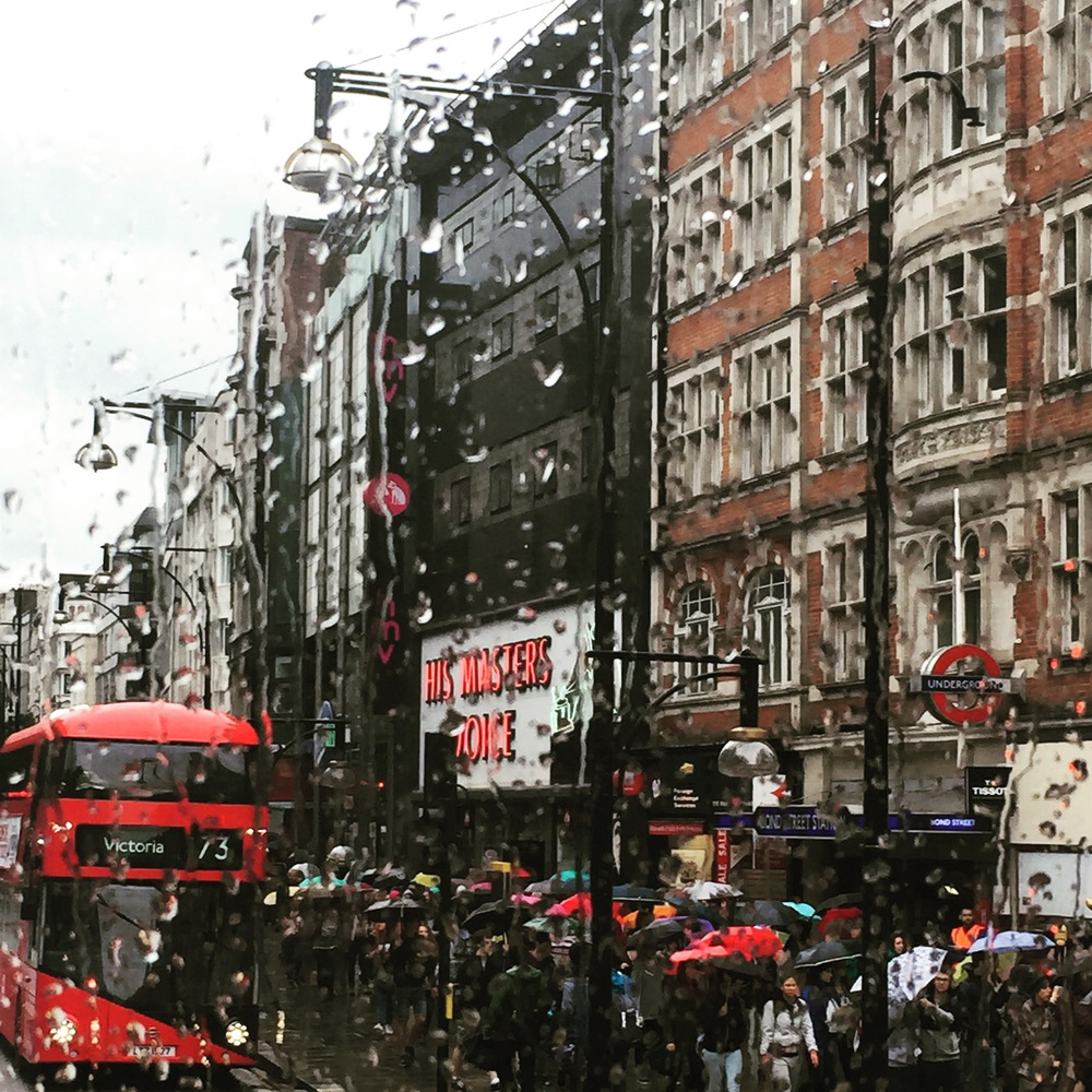 Oxford Street on a typical rainy day