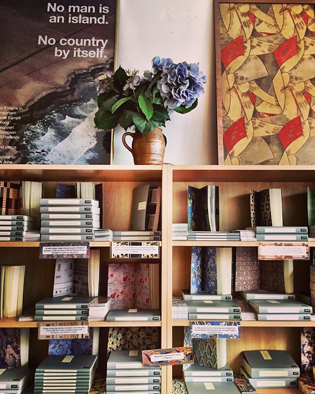 In London right now: a good time for a good book. If you visit the city Persephone makes the list for amazing shops. A bookstore for neglected (mostly) women authors all wrapped in iconic gray covers and endpapers. In a neighborhood of artists and history. Not to be missed.