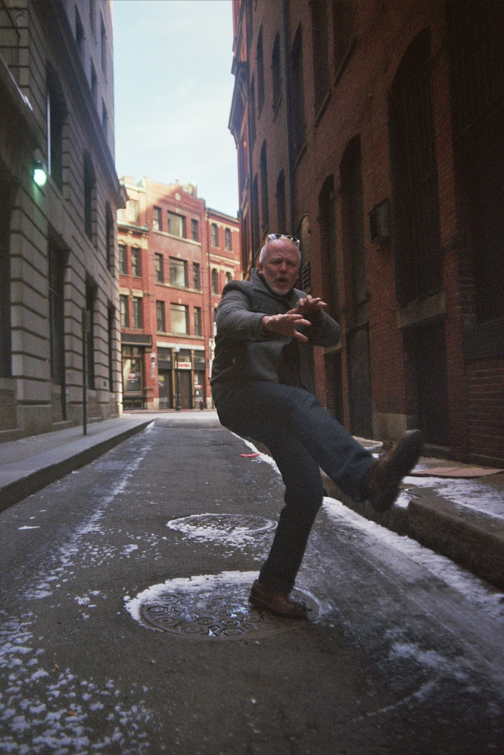 This is Greg. He is awesome. While on a shoot in Boston he gave us his best Kung Fu fighting stance in this epic ally.