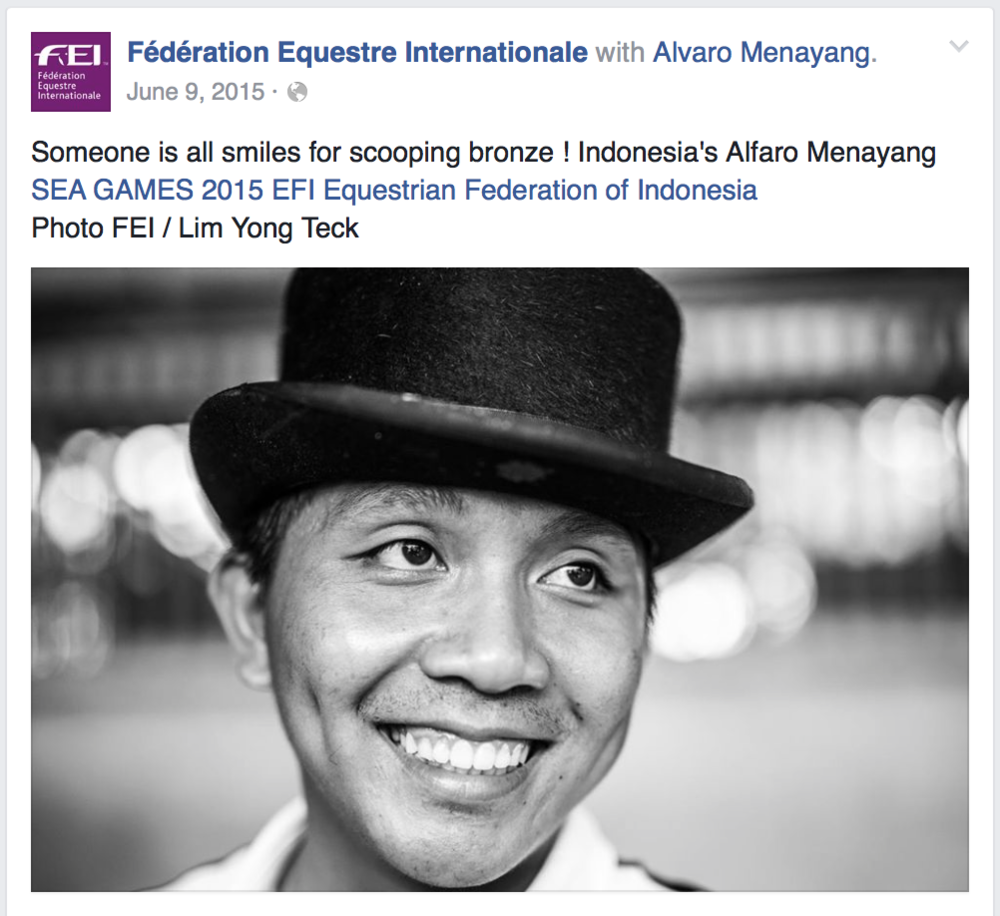 28th Southeast Asian Games for Fédérationa Equestre Internationale (www.fei.org)