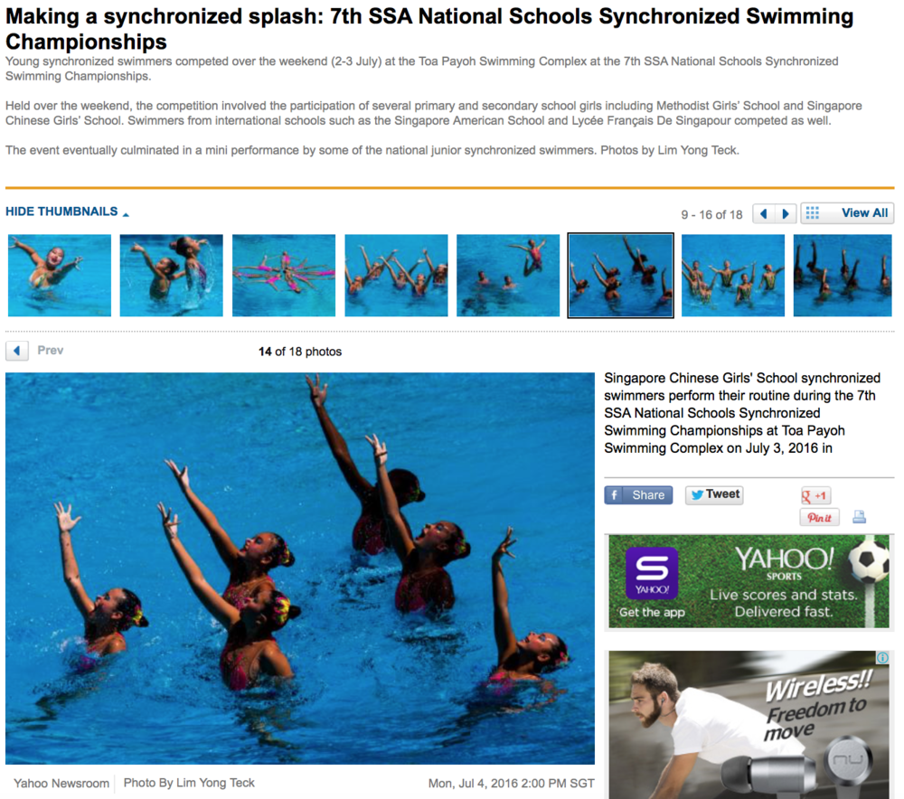 7th SSA National Schools Synchronized Swimming Championships for Yahoo! (www.yahoo.com)