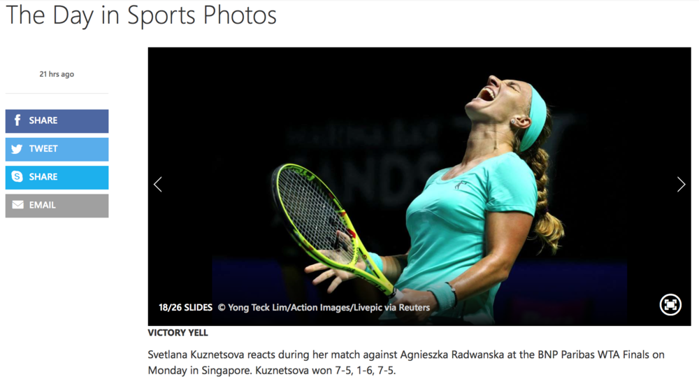 WTA Finals for Action Images (www.actionimages.com)
