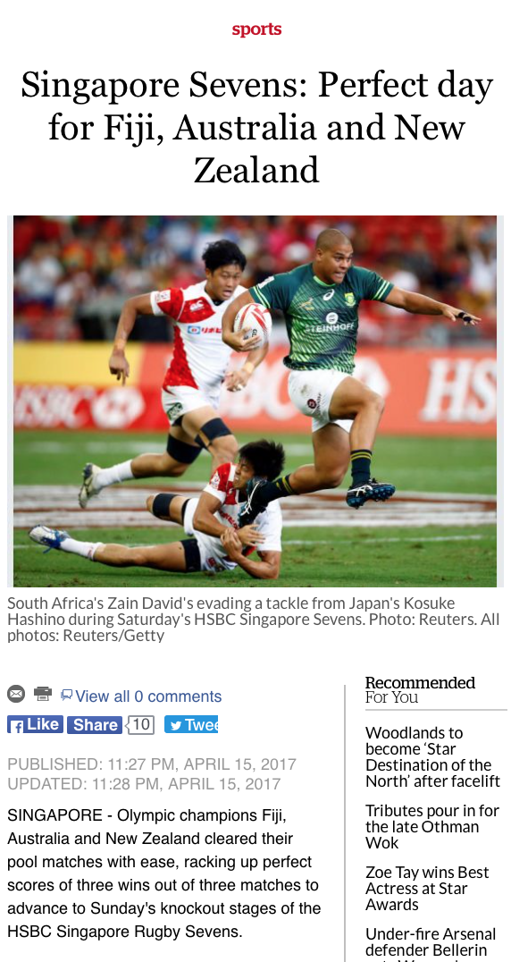 HSBC Singapore Sevens for Reuters (pictures.reuters.com)