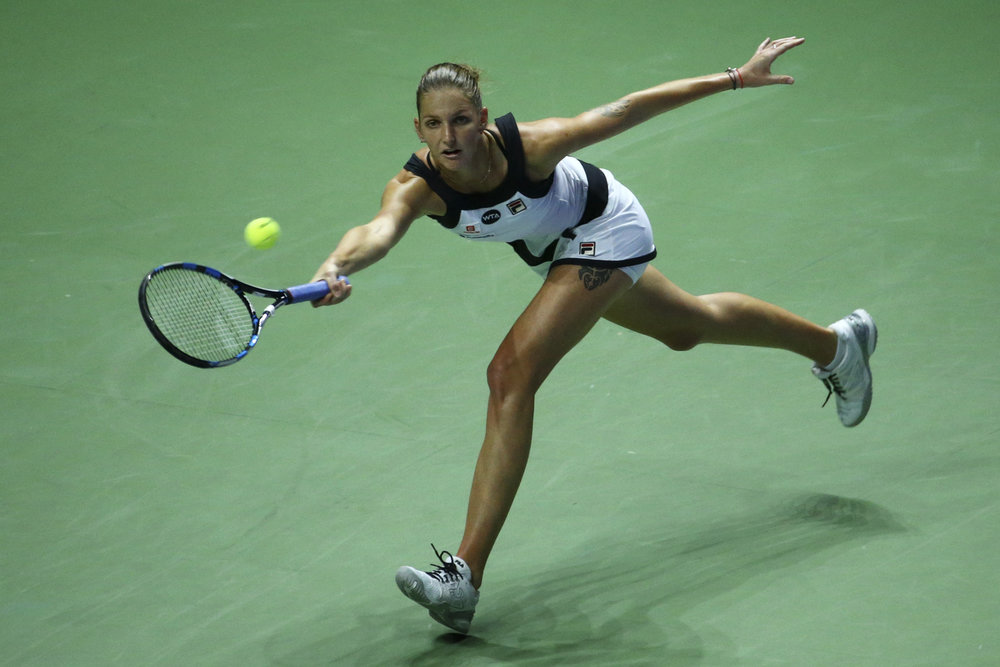 Tennis - BNP Paribas WTA Finals - Singapore Indoor Stadium - 26/10/16 Czech Republic's Karolina Pliskova in action during her round robin match Mandatory Credit: Action Images / Yong Teck Lim Livepic EDITORIAL USE ONLY.