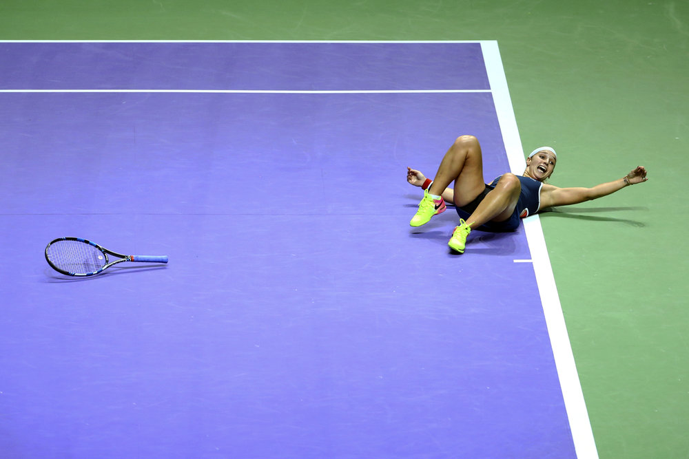 Tennis - BNP Paribas WTA Finals - Singapore Indoor Stadium - 30/10/16 Slovakia's Dominika Cibulkova celebrates during her final match Mandatory Credit: Action Images / Yong Teck Lim Livepic EDITORIAL USE ONLY.