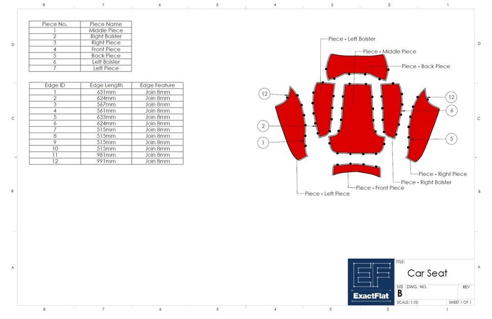 ExactFlat for SolidWorks - Drawings