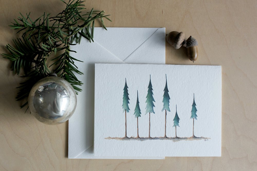 EVERGREEN HOLIDAY CARD SET
