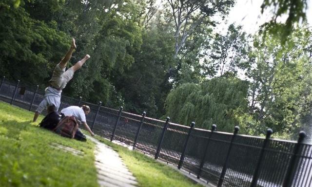Wie wird dein Handstand aussehen?                                   BENNI HARRIS 30 J Sportlehrer -& therapeut Volkspark Friedrichshain 2013