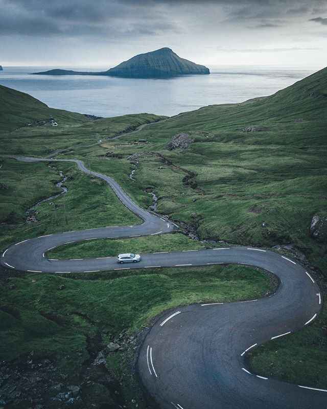 that's how you drive most of the streets in the faroe islands. alone.