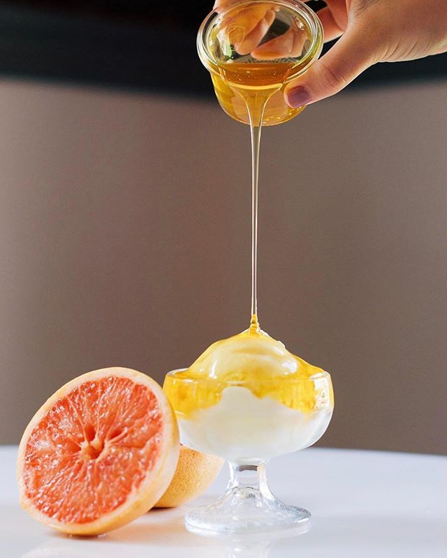 An old friend is back to greet the new year-come in to have some of one of our all time favorite seasonal flavors-Grapefruit and Honey!