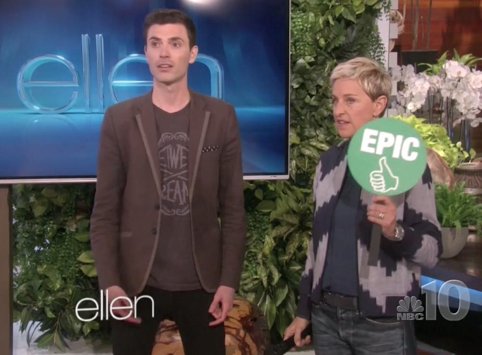 Ellen calls him... EPIC.