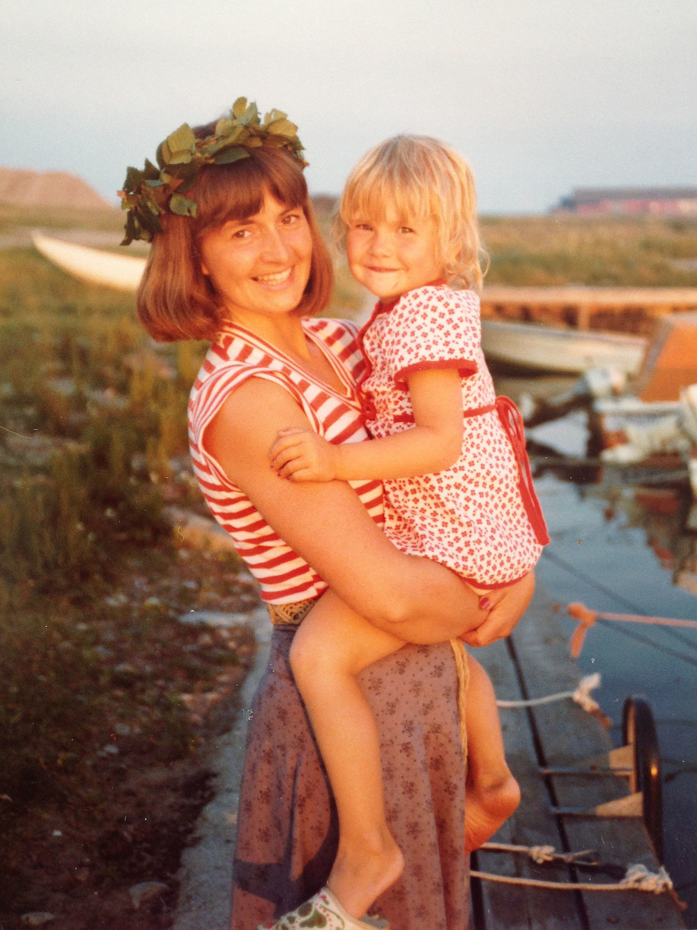 My mamma and me, Olofsbo, Sweden ca: 1976