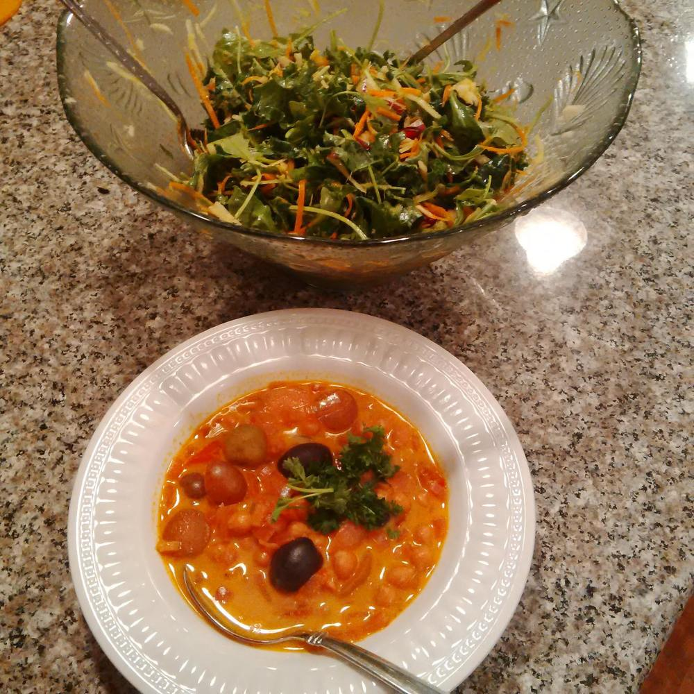 My mom's take on the chickpea vegetable stew.