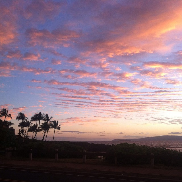 A shot from our walk home at dusk in Kihei, Maui.