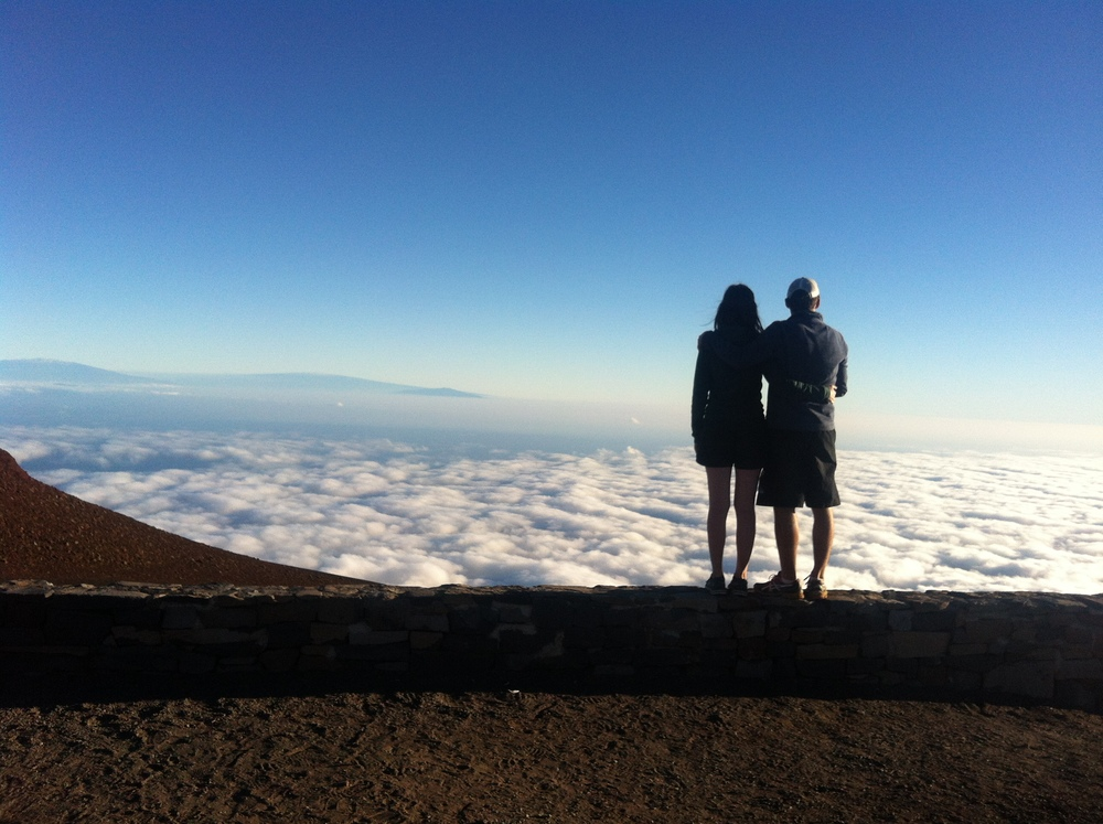This shot was taken January 2015 at the Haleakala Summit (at  10023ft) in  Maui, Hawaii.    No stress here. Just us, above the clouds.    ♥ ♥ ♥