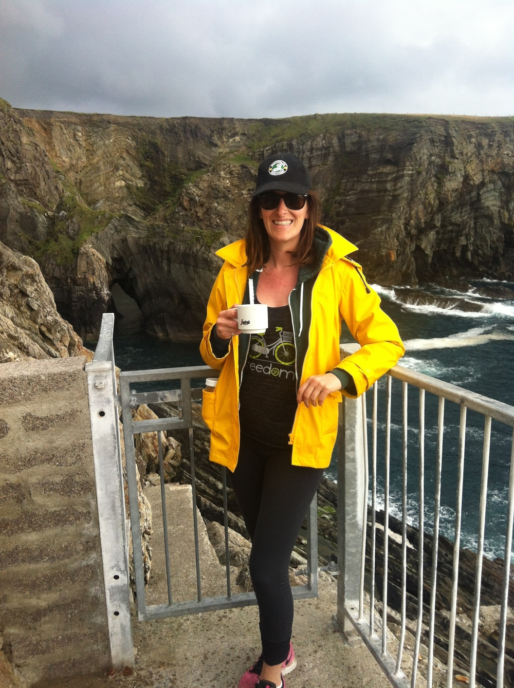 Enjoying A Coffee At Mizen Head