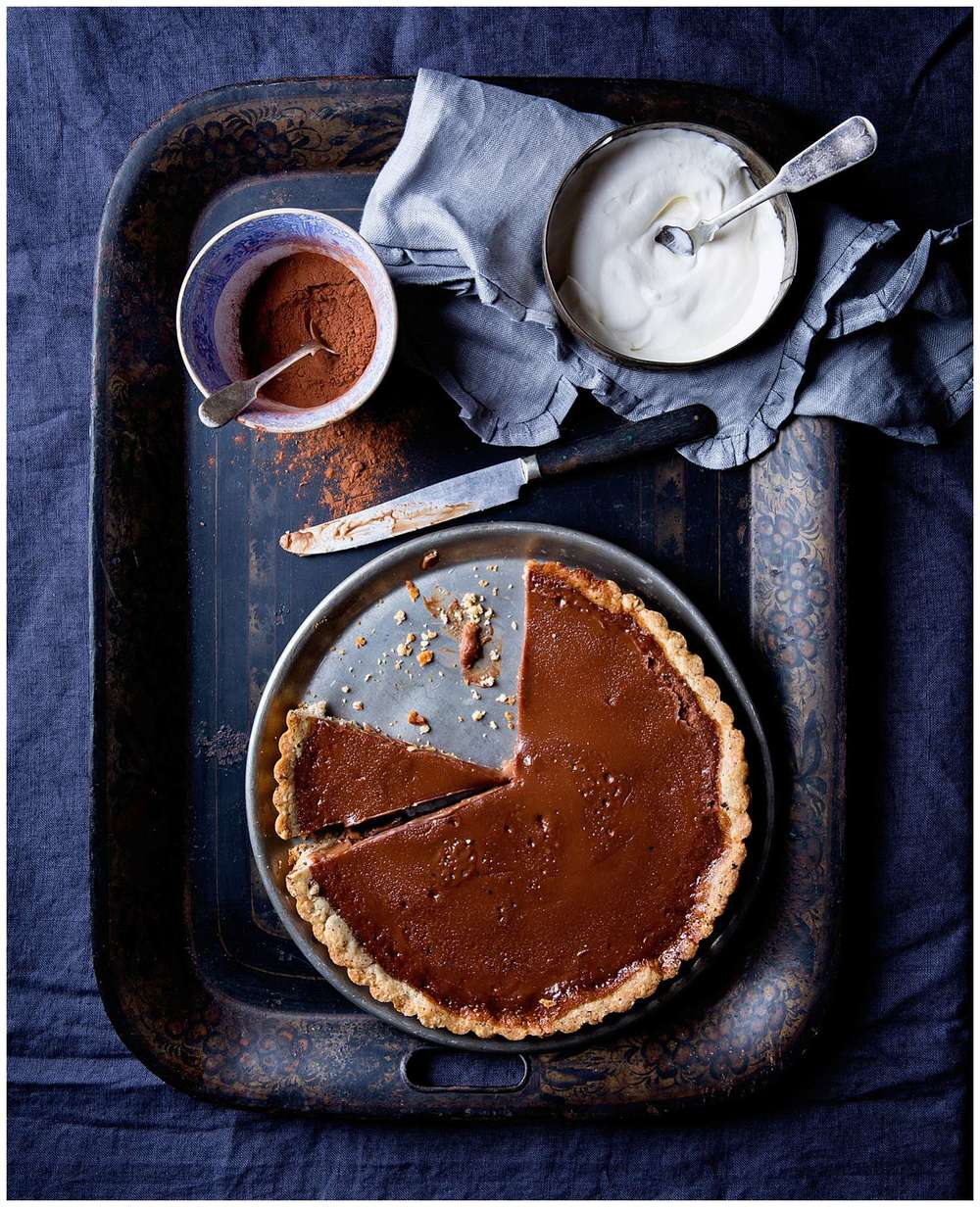 "Hazelnut chocolate tarte! great combination! I have made this a few times since November and it is now in my ""recipe box""... so easy and delicious!"