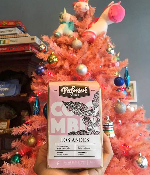 Unicorn love @creamparlor. We are so grateful to call, Johnny, Ainsley, and the entire Cream team, family! They serve tasty coffee and have the raddest Christmas tree. ⚡️ #creamparlor x #palmarcoffee
