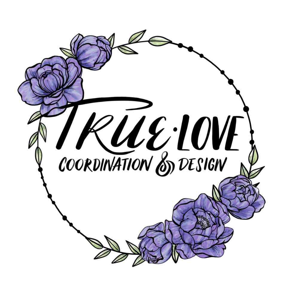 Commissioned logo design for TRUE Love Wedding Coordination