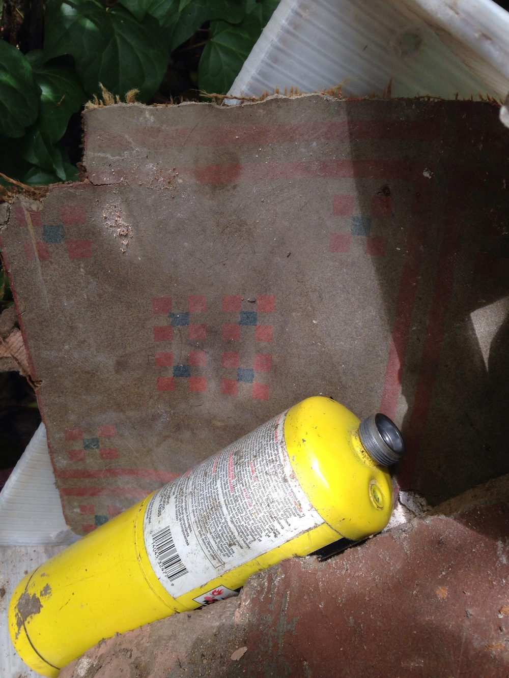 Original kitchen/laundry floor tile- Very Maybeck! Very ASBESTOS!
