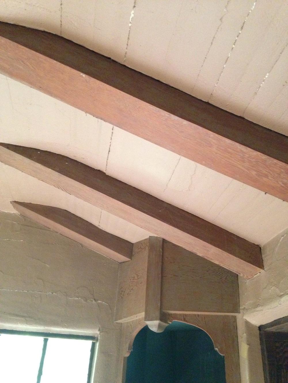 Cracked kitchen ceiling